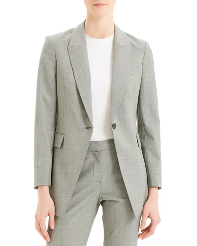 Etiennette B Good Wool Long Blazer