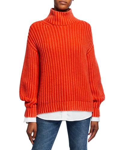 Savrine Cashmere Turtleneck Sweater