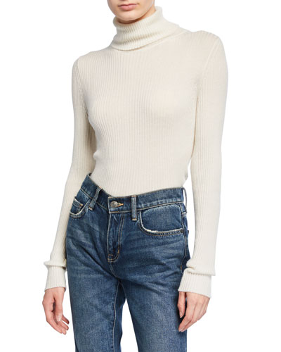Lawa Ribbed Cashmere Turtleneck Sweater