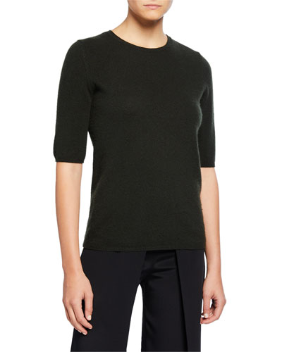 Charli Short-Sleeve Baby Cashmere Top