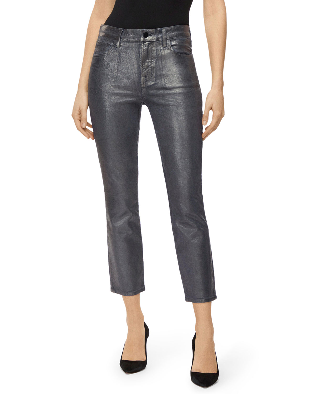 J Brand Jeans RUBY HIGH-RISE CIGARETTE CROP JEANS