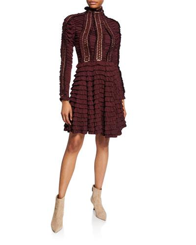 Resistance Lace-Up Mini Dress