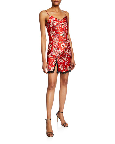 Avalyn Floral-Print Slip Dress