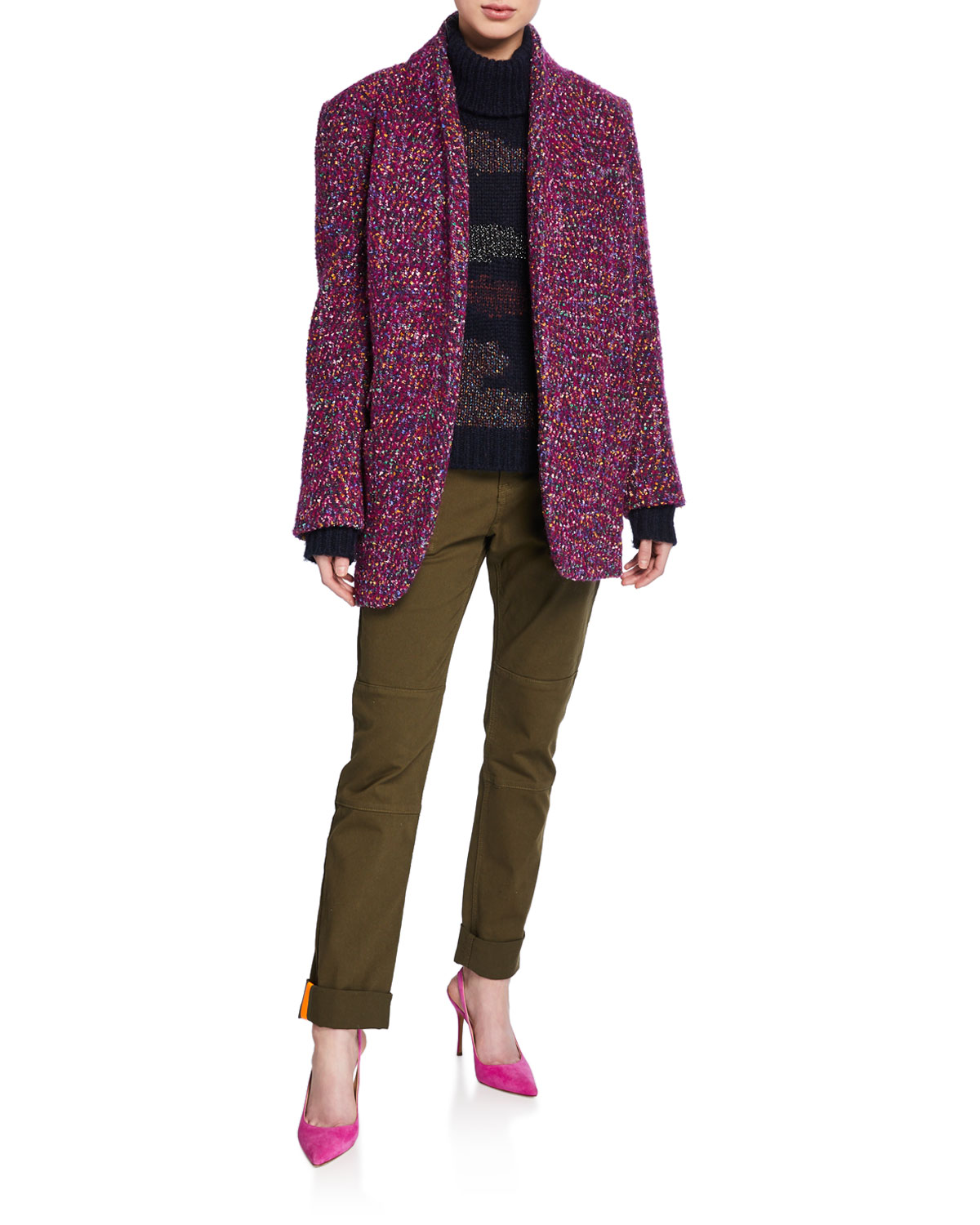 Veronica Beard Coats CRISPIN OPEN-FRONT COAT