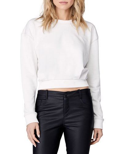 Gathered Long-Sleeve Pullover Top