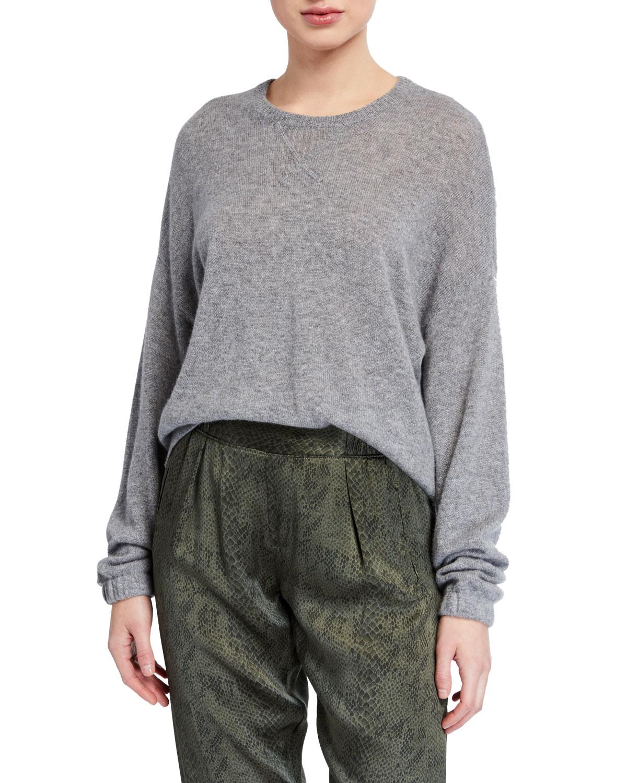 Atm Anthony Thomas Melillo Sweaters CASHMERE CREWNECK SWEATER