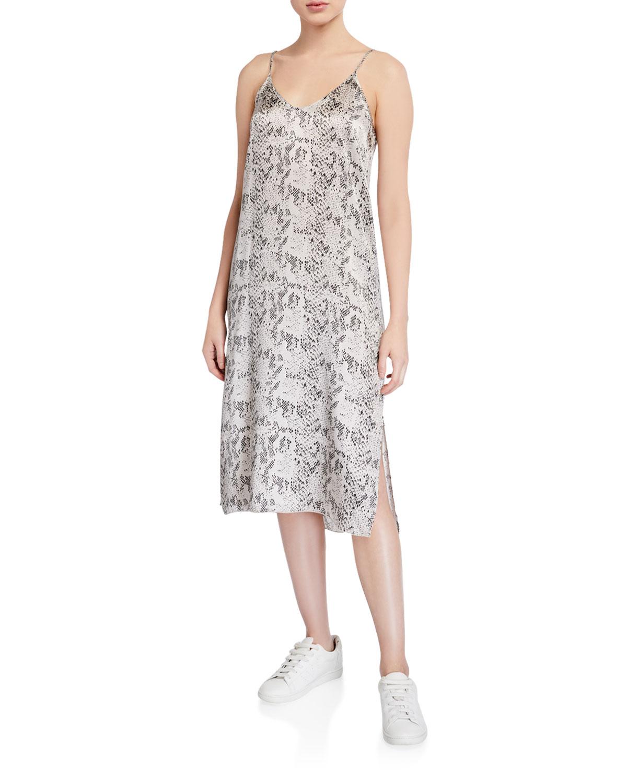 Atm Anthony Thomas Melillo Dresses SILK SNAKE-PRINT SLIP DRESS