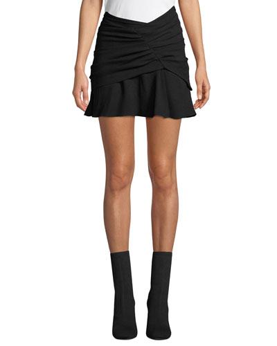 Locus Wrap Mini Skirt