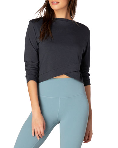 Back Out Reversible Cropped Long-Sleeve Pullover