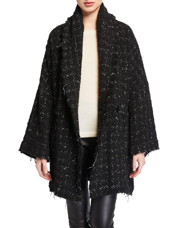 Iro Coats PELOPS SINGLE-BREASTED TWEED COAT