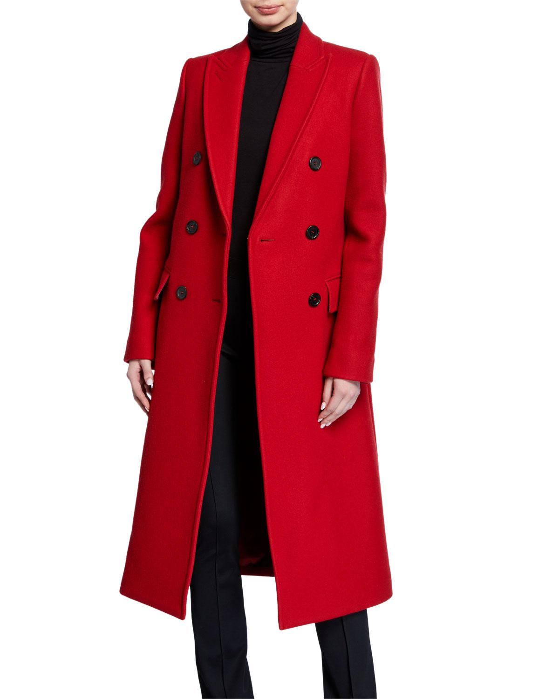 Helmut Lang Coats DOUBLE-BREASTED COAT
