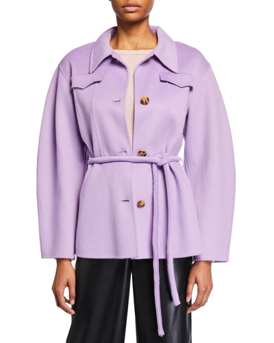 Adut Belted Button-Front Coat