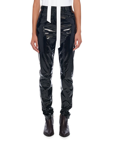 Tech Patent Skinny Trousers