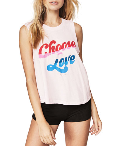 Choose Love Cropped Graphic Tank
