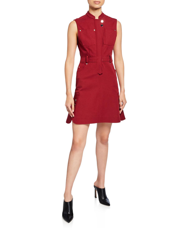 Derek Lam 10 Crosby Dresses SLEEVELESS UTILITY FLOUNCE DRESS