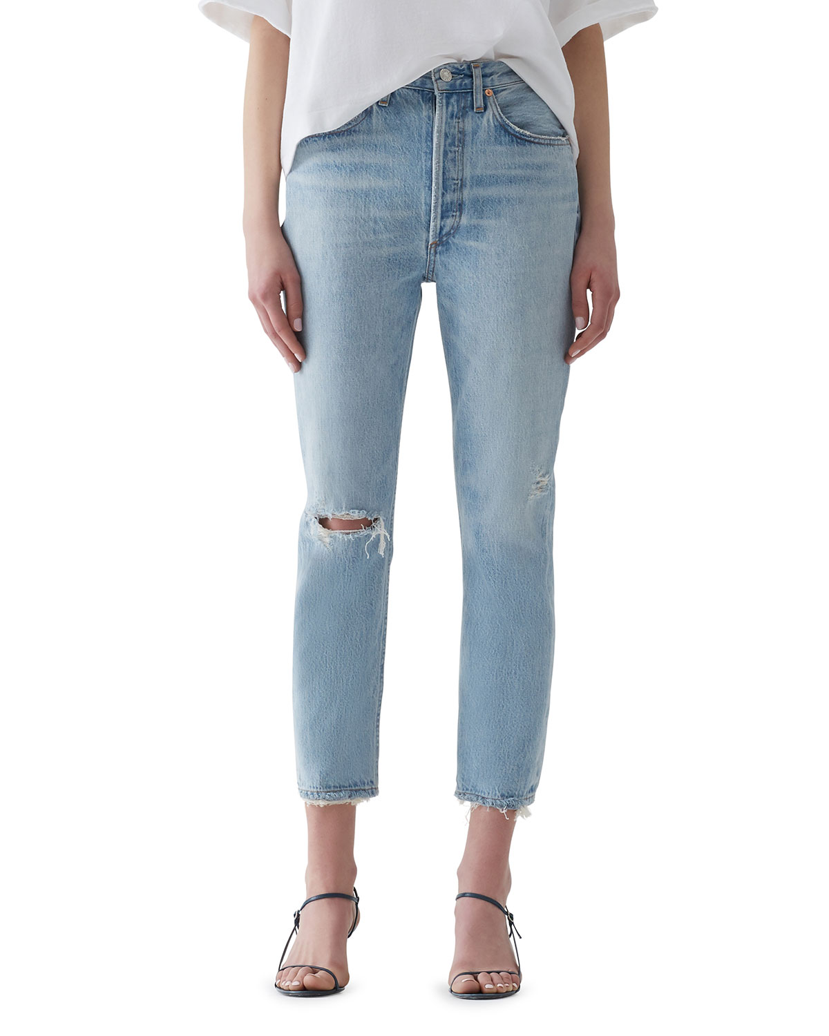 Agolde Jeans RILEY HIGH-RISE STRAIGHT CROP JEANS
