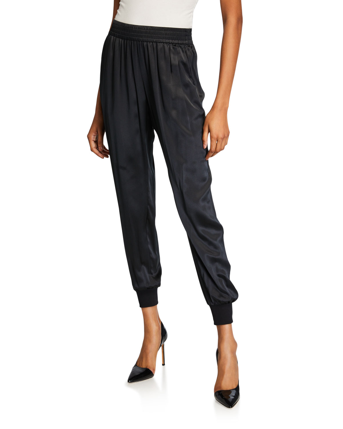 Cami Nyc Pants THE SADIE SILK CHARMEUSE JOGGER PANTS