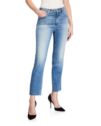 Isabelle High-Rise Straight-Leg Crop Jeans