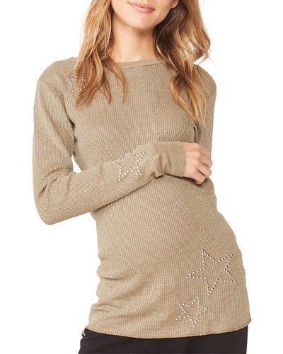 Maternity Star-Studded Thermal Top