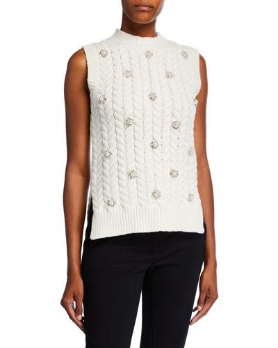 Embellished Knit Sweater Vest