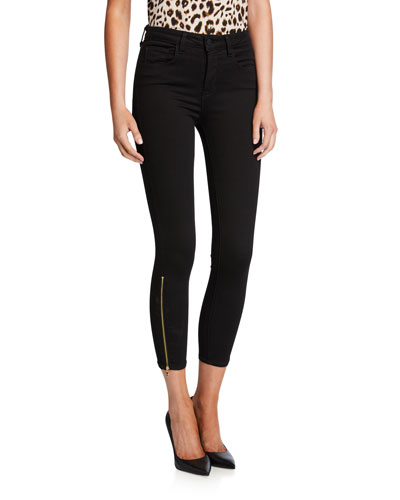 Sabine High-Rise Skinny Jeans with Zippers