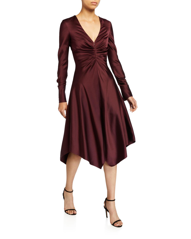 Jonathan Simkhai Dresses CREPE BACK SATIN HANDKERCHIEF DRESS