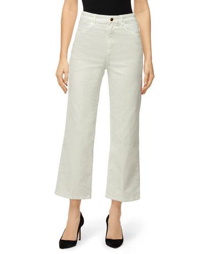 Joan High-Rise Cropped Corduroy Pants
