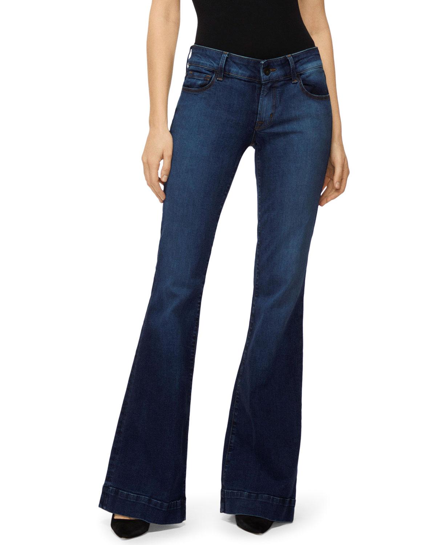 J Brand Jeans LOVERSTORY MID-RISE FLARE-LEG JEANS
