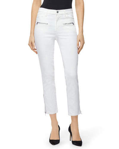 Ruby Moto Skinny Ankle Jeans