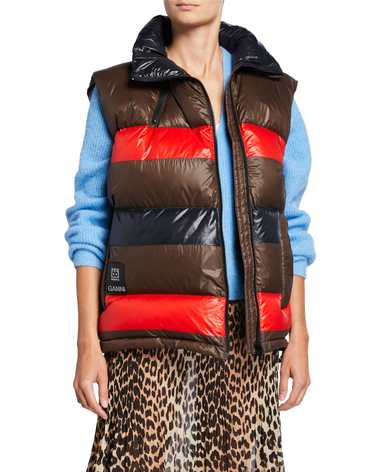 Ganni Tops X 66 NORTH ASKJA COLORBLOCK DOWN-FILL VEST