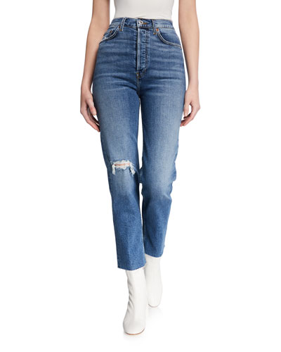 Ultra High-Rise Stovepipe Jeans