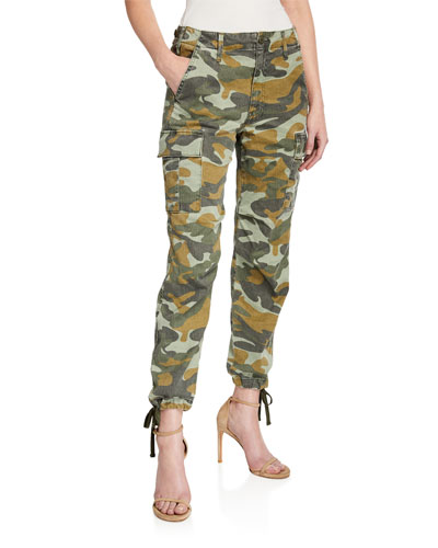 The Sir Yes Sir Camo-Print Cargo Pants