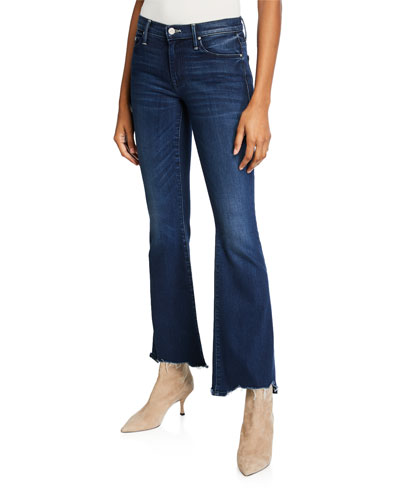 The Weekender Fray Flare-Leg Jeans