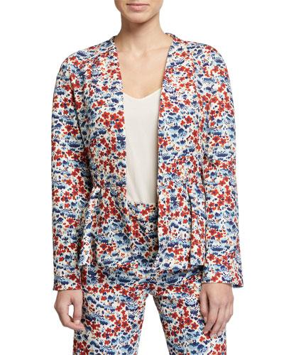 Tulip Printed Peplum Jacket