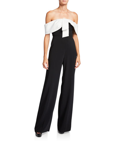 Gaggi Colorblock Off-the-Shoulder Jumpsuit
