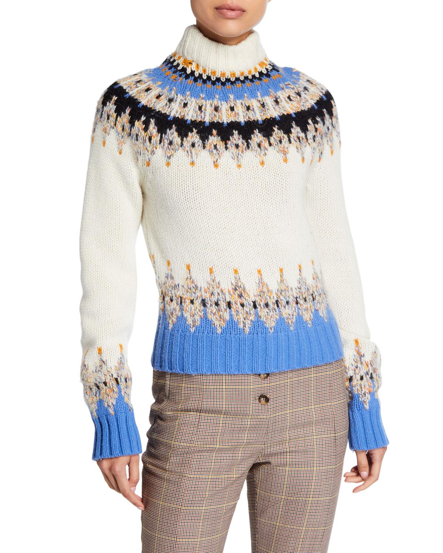 Stine Goya Sweaters JUSTIN FAIR ISLE TURTLENECK SWEATER