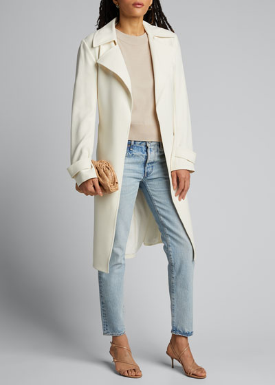 Camilla Tapered Crop Distressed Jeans