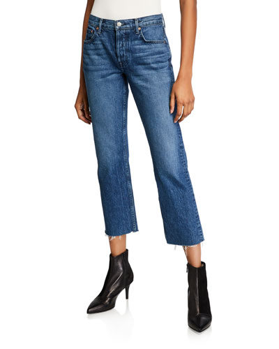 Tatum Cropped Straight-Leg Jeans