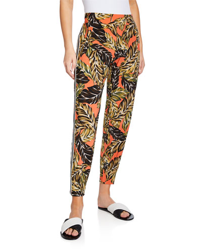 Printed Side-Stripe Jogger Pants