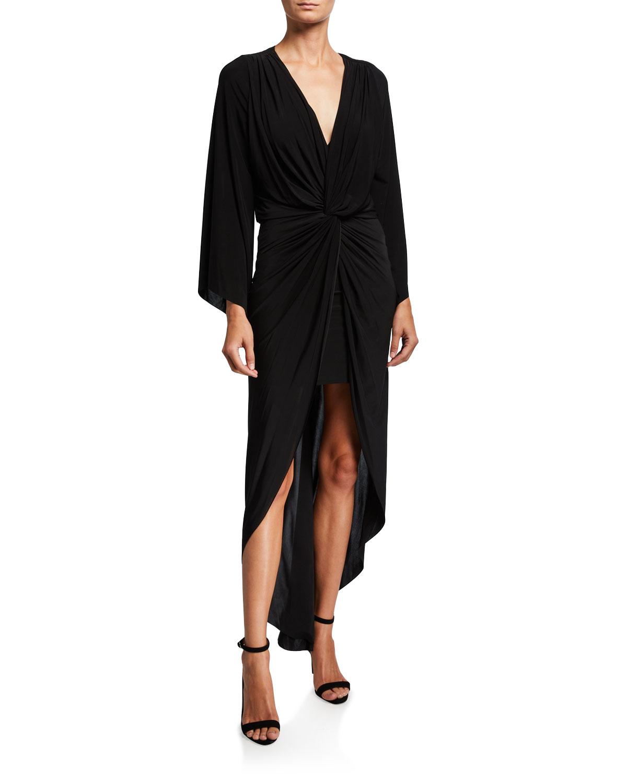 Misa Dresses TEGET TWISTED HIGH-LOW MAXI DRESS