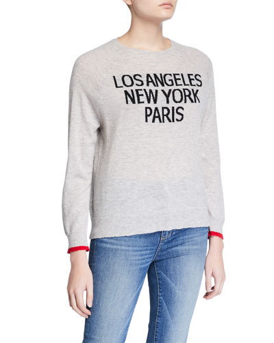 LA NY Paris Wool-Cashmere Sweater