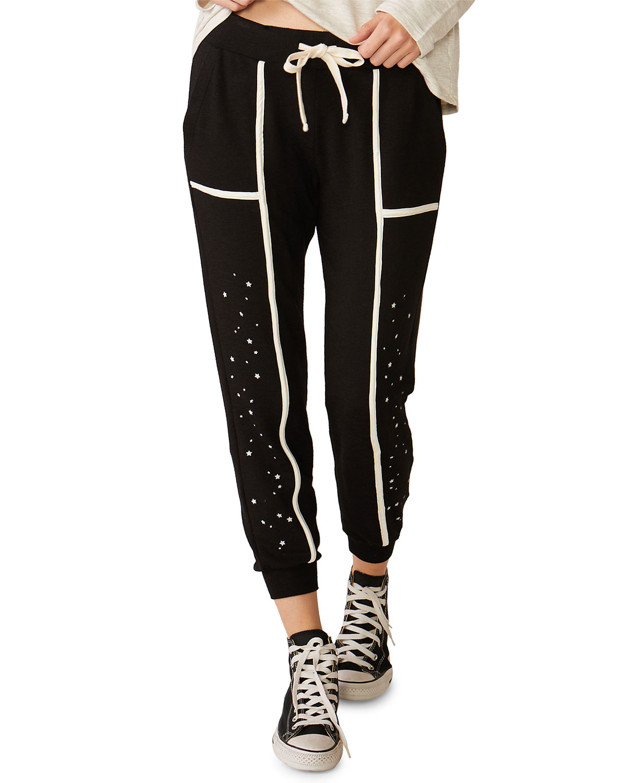Monrow Pants SUPER SOFT SKINNY SWEATPANTS WITH SEAMED BINDING