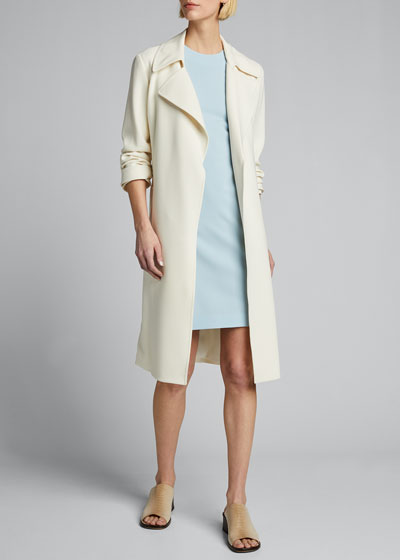 Fitted Wool Sleeveless Sheath Dress