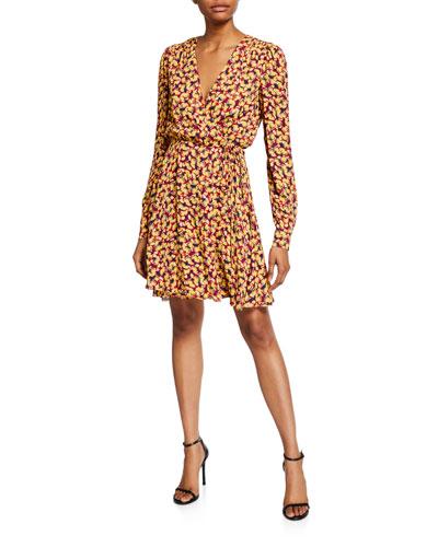 Lea Wrap Mini Dress