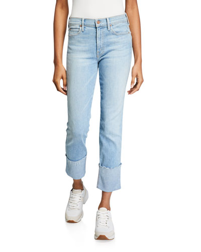 The Pony Boy Ankle Fray Straight-Leg Jeans