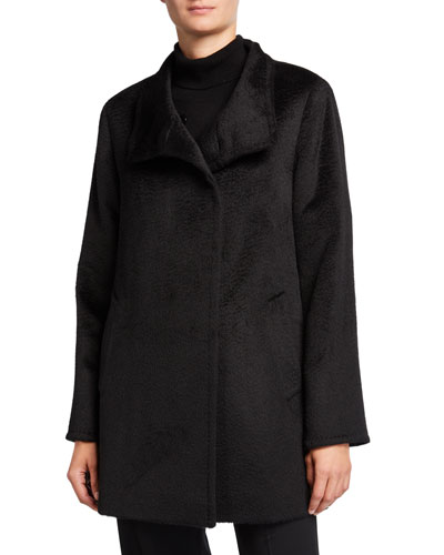 Relaxed Car Coat, Black