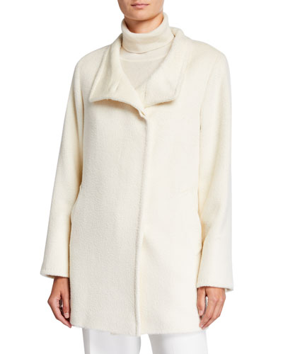 Relaxed Car Coat, White
