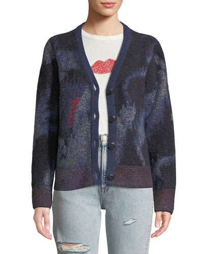 Fleur Abstract Mohair Cardigan