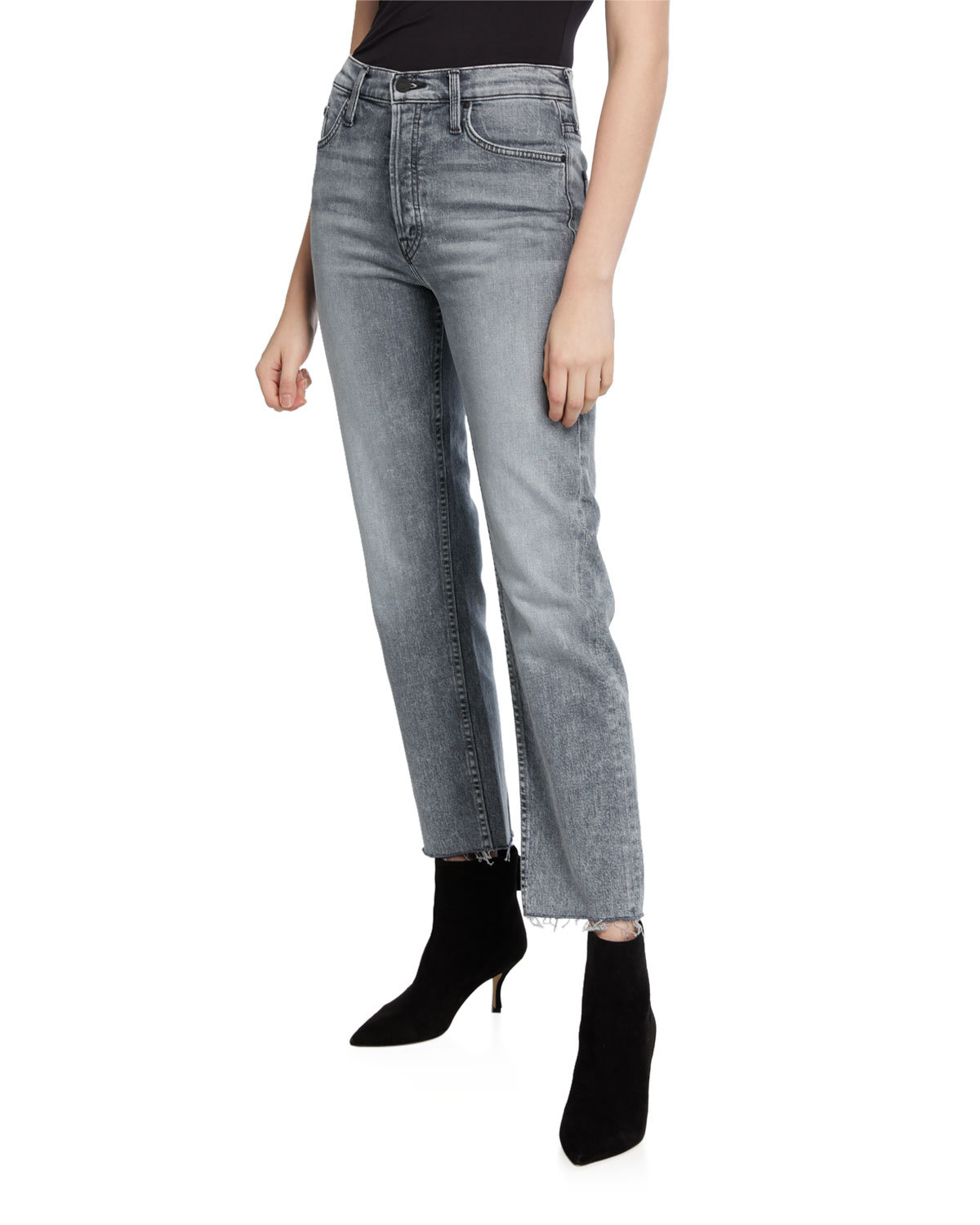 The Tomcat Ankle Fray Straight-Leg Jeans