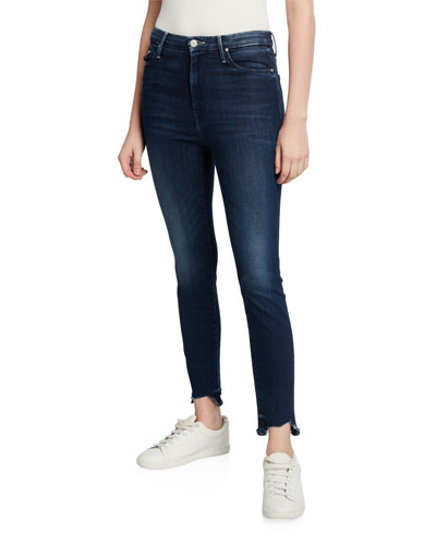 The High-Waisted Looker Ankle Fray Jeans